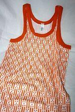 Original 70er Jahre Hemd Unterhemd Achselhemd Gr. 164 = 4 Orange Weiß Baumwolle