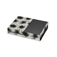 Noir et fourrure blanche imprimé Xbox One vinyle wrap/Xbox One skin sticker cover w....