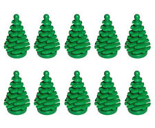 LEGO NEW 10 pcs GREEN PINE TREE SMALL 2x2x4 Plant Christmas City Town Forest