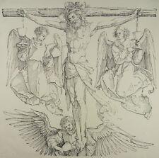 ALBRECHT DÜRER ORIG. HOLZSCHNITT 1504 CHRISTUS AM KREUZ CHRIST WOODCUT I35