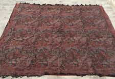 "Antique Asian Indian Square 19Th Century Kashmir Wool Shawl Paisley 70"" By 70"""