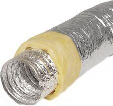 Alu-Flexschlauch 150mm isoliert 10m lang Alu-Flexrohr Lüftungsschlauch Aluminium