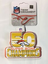 Denver Broncos Christmas Tree Ornament Super Bowl 50 Champions - New - EXCLUSIVE