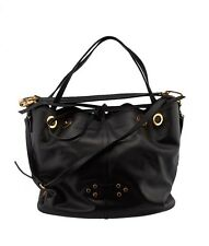 Miu Miu Black Leather Bucket Tote