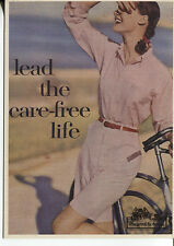 POST CARD OF A MAGAZINE ADVERTISEMENT FOR CARE-FREE MAXI PADS