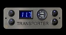 Vw Transporter T5 Campervan 4x Switches Voltmeter 2.1A USB