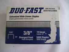 "Duo Fast Carpet Pad Galvanized Wide Crown Staples Divergent Point 15/32"" x 3/8"""