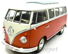WELLY 12531W 1962 VW VOLKSWAGEN MICROBUS BUS 1/18 DIECAST MODEL CAR BROWN WHITE