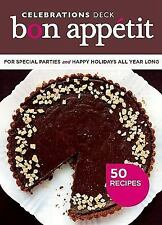 NEW!! Bon Appetit Celebrations Deck : 50 Recipes for Special Parties and Holiday