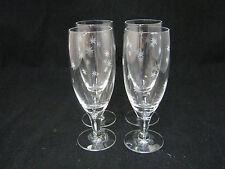 "Radio Brand RFG4 Fine Crystal 4-6"" Juice Cordial Goblet Glasses CUT STARS ec"