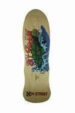 H STREET RE ISSUE SKATEBOARD DECK ART GODOY SEA TURTLE WOOD RETRO 80S SKATE
