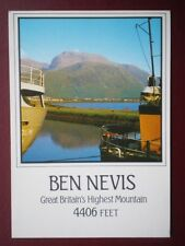 POSTCARD ABERDEENSHIRE BEN NEVIS - HIGHEST MOUNTAIN 4406 FEET