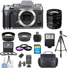 Fujifilm X-T1 Mirrorless Digital Camera (Graphite Silver Edition) PRO BUNDLE!!