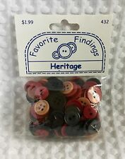 Favorite Findings Round Buttons Heritage Mix Approx 130/Pkg. Blumenthal Lansing