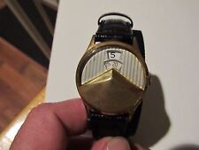 Vintage Rare Benrus Chevron Jump Dial Tuxedo Mens Watch