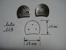 paire de fers à chaussure LULU 119 ,  17 mm par 16 mm avec sem 10 mm