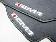 96-00 HONDA CIVIC 2DR SI EX DX EM1 LOGO CUSTOM FIT GRAY FLOOR MATS CARPETS SET