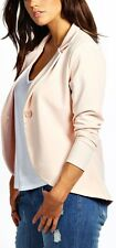 WOMENS  PLUS SIZE ONE BUTTON PONTE JACKET BLAZER  SIZE 16,18,20,22,24