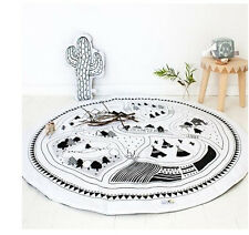 Soft Cotton Baby Kids Game Gym Activity Play Mat Crawling Blanket Floor Rug  SP