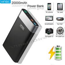 20000mAh QC 3.0 Quick USB Type C Battery Charger External Pack Backup Power Bank