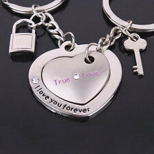 1 Pair Love Heart Keyring Couple Keychain Key Ring Key Chain Keyfob Lover Gift