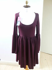 BNWT Dare to Bare dark aubergine gothic tunic style dress size 12
