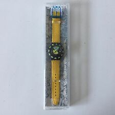 NEW Vintage Swatch Watch Scuba 200 Divine SDN102 New in Box Yellow Band