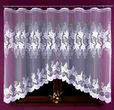 Lovely White Jacquard Net Curtain  READY MADE 325X160 Home Window decoration