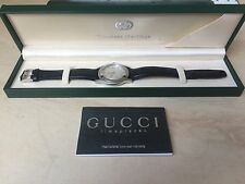 GUCCI MENS WATCH BLACK LEATHER 5500M with BOX