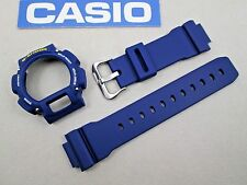 Genuine Casio G-Shock DW-9052 watch band bezel & studs navy blue DW-9050 DW-9051
