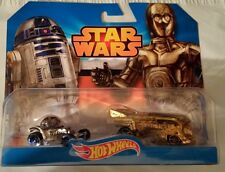 Hot Wheels Disney Star Wars Diecast 2-Pack R2D2 C3PO VW Drag Bus Case Fresh New