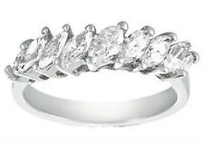 Ladies 1.50 CT Marquise Diamond Wedding Ring in 14 kt White Gold Mounting
