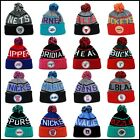Mitchell & Ness KJ46Z KJ58Z NBA Knit Beanie Hat Skully W/ Pom sport blue