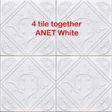 50 pc lot of ANET White Styrofoam Ceiling Tile - EASY INSTALATION Glue up