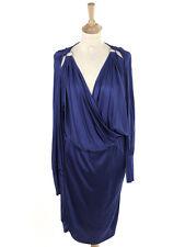 BNWT Reiss Womens Night Sky Janna Eyelet V Neck Dress Size M (Uk 12)