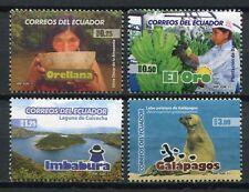 Ecuador 2011 Tourismus Provinzen Indio Galapagos Lagune Bananen 3263-66  ** MNH