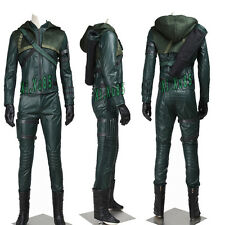 Exclusive Green Arrow Stagione3 Oliver Queen Cosplay Costume Halloween Whole Set