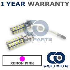 2X XENON PINK UPGRADE H3 60 SMD LED FOG LIGHT BULBS FOR DODGE NEON CADILLAC STS