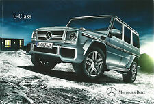 Mercedes-Benz G-Class UK Brochure 2014 64 Pages +Price List Brochure Inc G63 AMG