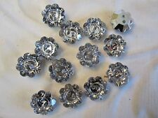 "1/2"" VINTAGE RHINESTONE INSPIRED "" FLOWER "" Buttons (12 pc)"