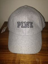 NWT Victoria's Secret 2016 PINK wool grey  Baseball Hat Cap