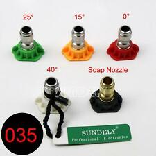 Quintuplet Pressure Washer Cleaning Nozzles Tip Set 0 15 25 40 65 Degrees 3.9GPM