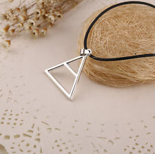 2015 Special 30 Second to Mars Band Logo Symbol Silver Triangle Pendant Necklace