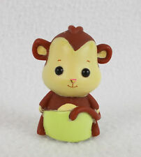 "Zhu Zhu Pets Zhu Fari Babies Baby Monkey 2"" Mini Figure Doll Toy CEPIA -No Fur-"