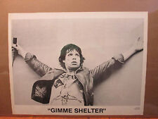 Vintage Gimme Shelter original black and white poster 9936