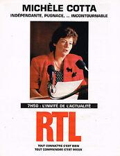 PUBLICITE ADVERTISING 045  1994  RTL radio   MICHELE COTTA 2