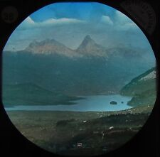 Glass Magic Lantern Slide SWISS MOUNTAIN SCENE C1890 PHOTO SWITZERLAND