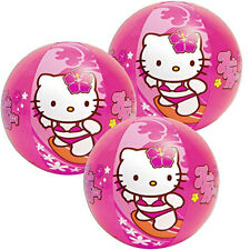 "x10 INTEX HELLO KITTY KIDS Girl Inflatable Pool 20"" Beach Balls Toy PARTY FAVORS"