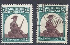 S.RHODESIA, 1943, MOUNTED PIONEER 2d SG 61, MNH & USED SINGLES