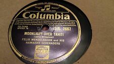 FELIX MENDELSSOHN MOONLIGHT OVER TAHITA & O SOLE MIO COLUMBIA DB2667